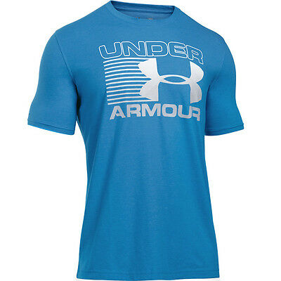 Under Armour Blitz Logo T-Shirt blue white steel 1282296-787 Sportstyle Cotton