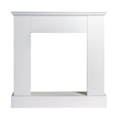 Mobili Rebecca® Fireplace Decorative Frame Wood White Modern Design Living Room
