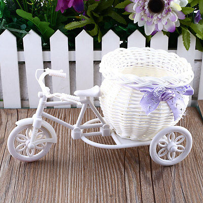 Plastic Tricycle Bike Design Flower Basket For Flower Plant Party Decoration