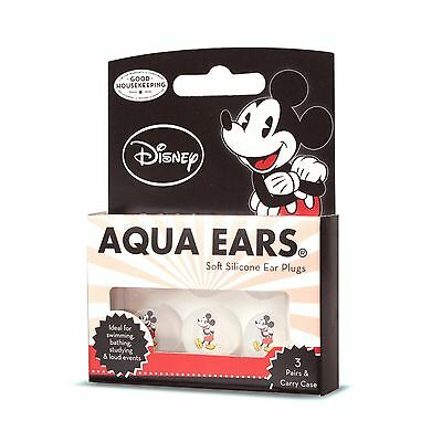 Aqua Ears Mickey Mouse soft silicone earplugs for kids- 3 Pair