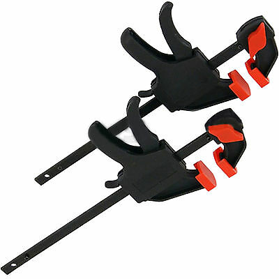 """New Set Of 2 Soft Jaw 4"""" 100mm Quick Clamp Strong Clamps Clamping Metal Wood"""