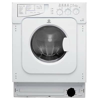 Indesit IWDE126 1200 Spin 6kg+5kg 13 Programmes Integrated Washer Dryer