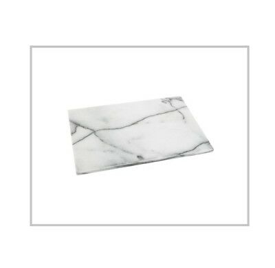 Polished White Marble Board 46cm x 30cm