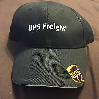 UPS Freight UNITED PARCEL SERVICE Black White One Size Adjustable NWT