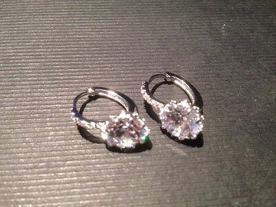 platinum drop earings with gemstones stunning handmade only 4 made new for 2016