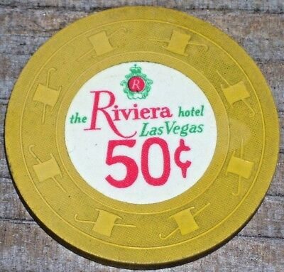 .50 Vintage 5Th Edt Fractional Gaming Chip From The Riviera Casino Las Vegas Nv