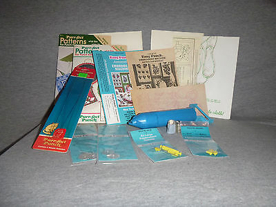 Easy Punch Embroidery Machine Lot Needles Threader Pattern