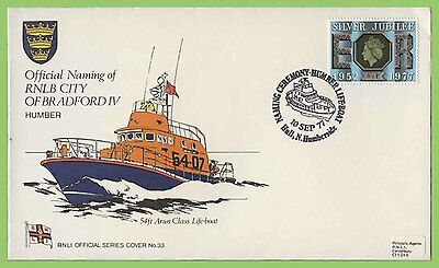 GB 1977 RNLI Official Cover No.33 Naming of RNLB City of Bradford IV