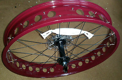 "Fat Bike Rear Cycle Wheel - 26"" x 4"" (100mm) (190mm hub)  incl 9 speed - Reduced"