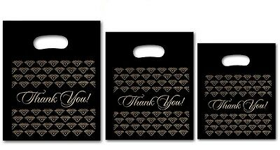 Thank You Bags Thank You Plastic Bags for Jewelry Bags Shopping Mixed Size 300Pc