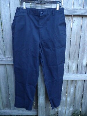 Red Kap Industrial Work Pants Navy Blue Size 18 Inseam 29    FREE SHIPPING W849