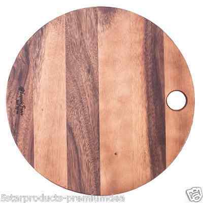 NEW LAGUIOLE JEAN NERON ROUND ACACIA WOODEN BOARD 40cm CHEESE CUTTING KITCHEN