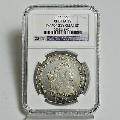 1799 Draped Bust Silver Dollar - NGC - XF Details (#3618)
