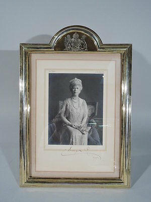 Queen Mary in Silver Gilt Frame - House of Windsor Matriarch Signed Portrait