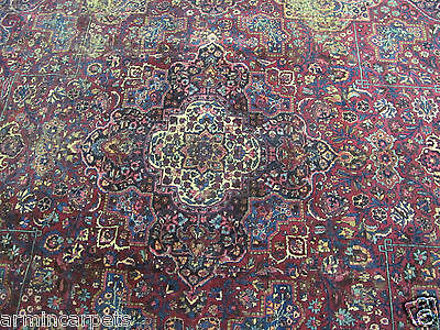 A FABULOUS HANDMADE ANTIQUE MASHAD ORIENTAL CARPET (350 x 250 cm)