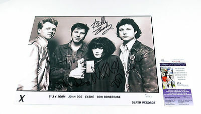 John Doe And X Signed 11 x 14 B & W Photo Pose #1 4 JSA Autos