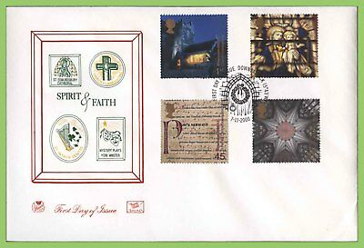 G.B. 2000 Spirit & Faith set on Stuart First Day Cover, Downpatrick