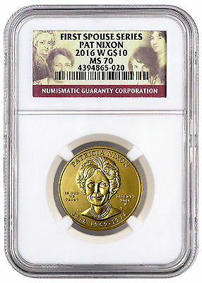 2016-W $10 1/2 Oz Proof Gold First Spouse - Patricia Nixon NGC MS70 SKU41736