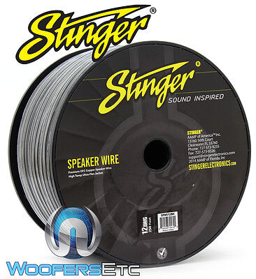 Stinger Spw512Bk Black 12 Awg Gauge 250 Feet Pure Ofc Copper Speaker Wire New