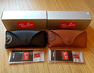 Ray Ban Black & Brown Sunglasses Case Cloths & Boxes Included