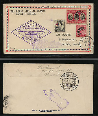 US  first flight  to  Merida, Mexico  1931         MS1008