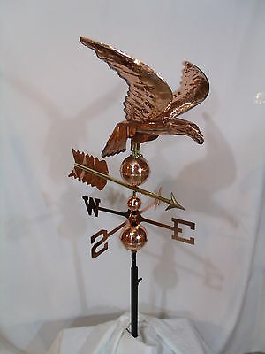 LARGE Copper EAGLE Weathervane has Polished  Finish with FREE ROOF MOUNT !!!