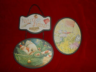 W~1999~Marjolein Bastin~Welcome Friends~4 Seasons Interchangeable Hanging Sign