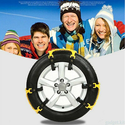 2x Car Truck Van Snow Tire Antiskid Chains Beef Tendon Wheel Antiskid TPU Chain*