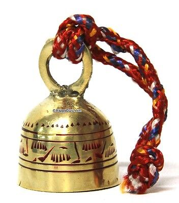 """brass Bell On Rope"" Quality Sound & Made (7Cm Tall)"