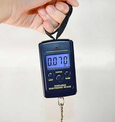 40Kg/10g Electronic Digital LCD Luggage Fishing Weight Hanging Scale
