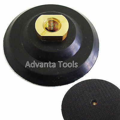 "4"" Rubber Flexible Backer Pad 5/8""-11 Threads for Diamond Polishing Pad"