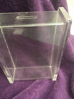 Lucite   / Acrylic Bank/ Paperweight