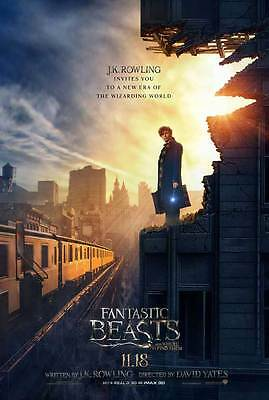 Fantastic Beasts and Where to Find Them Film Cinema Poster 27x40 Theatre NEW