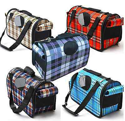 Puppy Pet Dog Cat Portable Travel Carry Carrier Tote Cage Bag Crates Kennel ZF