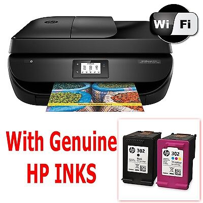 HP Officejet 4650 e-All-in-One Wireless Printer Scanner Copier Fax - with inks