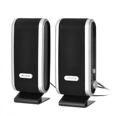 2PCS 2.1 Channels ABS Mini Small USB Power 8W Speakers for Laptop PC computer
