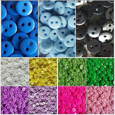9Mm Glossy 2 Hole Round Buttons.perfect For Sewing- Card Making- Scrapbooking