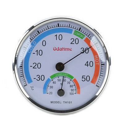 High-Precision Indoor & Outdoor Thermometer & Hygrometer Silver