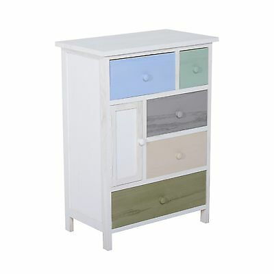 Shabby Chic Wooden Cabinet Chest of Drawers Cupboard Bathroom Bedroom Storage