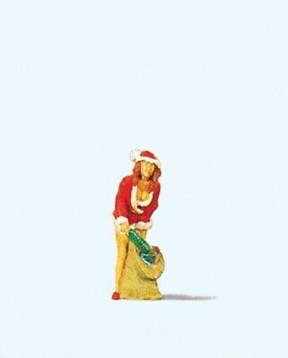 Preiser 29028 HO Girl In Christmas Outfit with Gifts Model Railway Figures