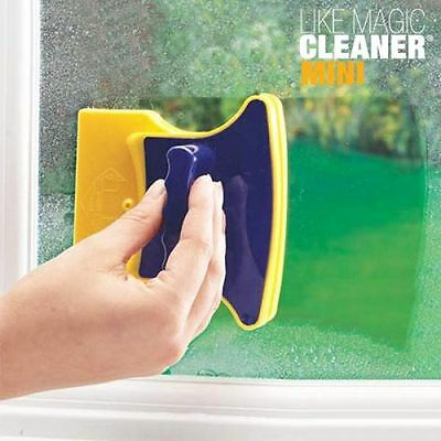 Like Magic Magnetic Window Glass Cleaner - Double Cleaning Rubber Blade Tool Set