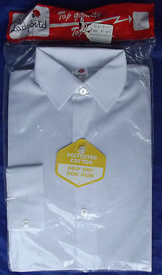Boys vintage shirt UNUSED Age 4 1970s English primary school uniform Ladybird