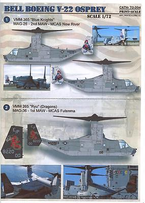 Print Scale Decals 1/72 BELL BOEING V-22 OSPREY