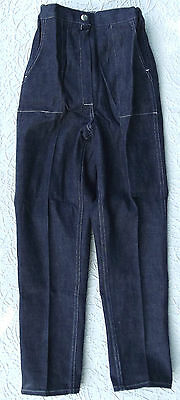 Vintage jeans 1960s UNUSED Age 10 yr GIRLS dark blue CHILDRENS trousers style a