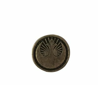 Star Wars Rogue One Rebel Silver and Black Lapel Pine Free Shipping