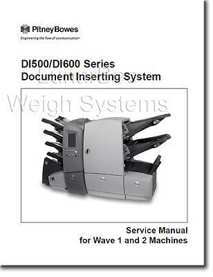 Pitney Bowes Repair Service and Parts Manuals DI500 DI600 SI4200 SI4400 Inserter