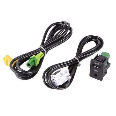 USB Aux Switch+Wire Cable Adapter for BMW 3 5 Series E87 E90 E91 E92 X5 X6 AC516