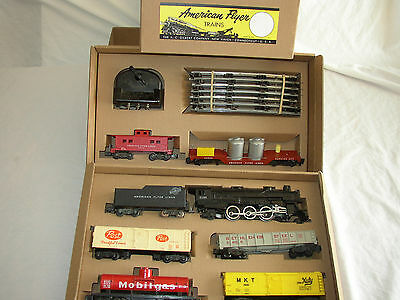 American Flyer Train Set 21085 Engine & Freight Cars Serviced Readyto Run  # L-1