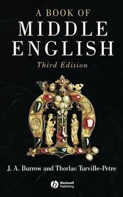 A Book of Middle English by John Anthony Burrow Hardcover Book (English)