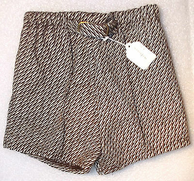 Vintage boys shorts Age 6 UNUSED 1970s childrens clothes Wool mix LADYBIRD brown